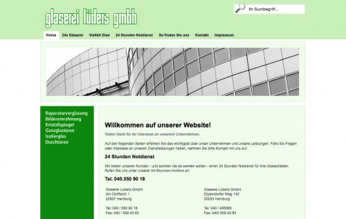 Firmenprofil von: Hochwertige Verglasungen in Hamburg: Glaserei Lüders GmbH