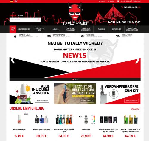 Firmenprofil von: Mit Fruchtaroma dampfen – Totally Wicked Online-Shop