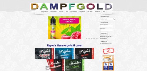 Firmenprofil von: Einmalige Liquids in Ansbach: Dampfgold UG