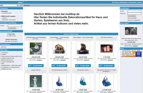 Firmenprofil von: Der Onlineshop von Multitop: Dekorative Gartenbrunnen