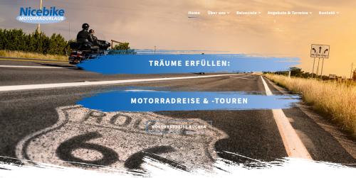 Firmenprofil von: Nicebike aus Hamburg: Atemberaubende Motorradreisen durch Europa