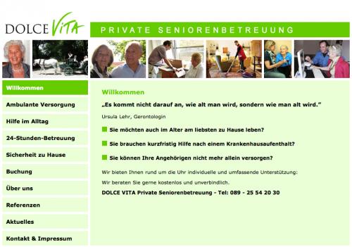 Firmenprofil von: Dolce Vita Private Seniorenbetreuung in München