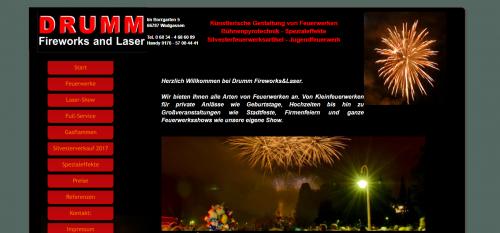 Firmenprofil von: Phänomenale Großfeuerwerke von Drumm Fireworks und Laser im Saarland