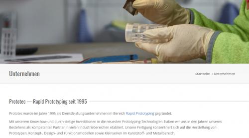 Firmenprofil von: Professioneller 3D-Druck von Prototec: Ihr Experte in Attendorn