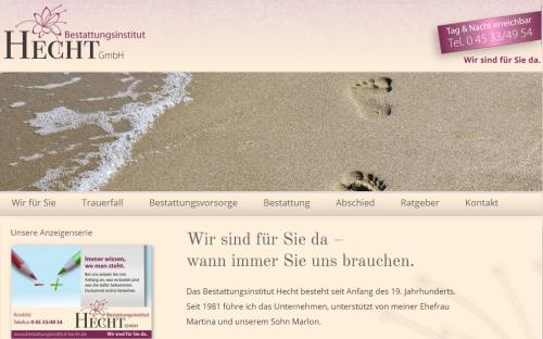 Firmenprofil von: Bestattungsinstitut Hecht GmbH in Reinfeld: für eine würdevolle Bestattung