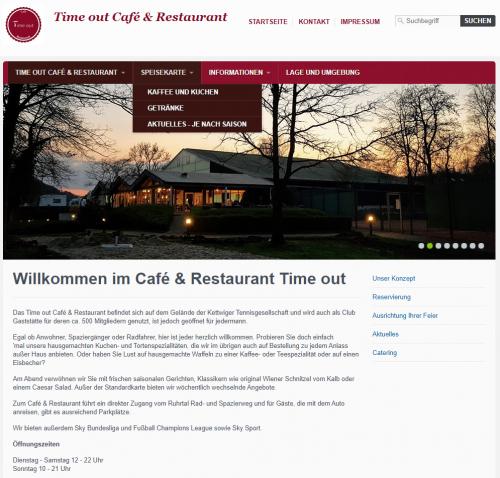 Firmenprofil von: Traumhafte Firmenessen: Time out Café & Restaurant in Essen