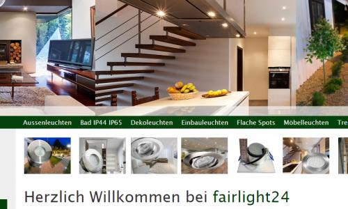 Firmenprofil von: Flache LED Einbauleuchten im Onlineshop: fairlight24