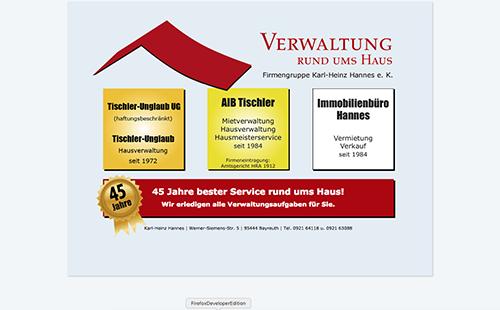 Firmenprofil von: Hausverwaltung Tischler-Unglaub in Bayreuth