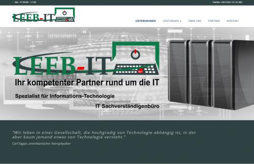 Firmenprofil von: Kompetente Computerhilfe in Hilden: LEEB-IT