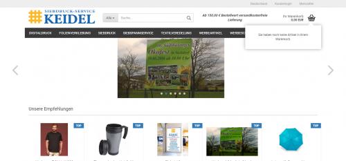 Firmenprofil von: Individueller Textildruck bei Siebdruck-Service Keidel in Thüringen