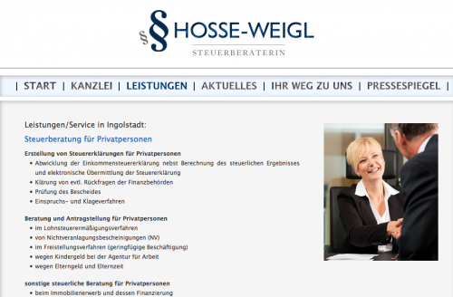 Firmenprofil von: Steuerbüro Hosse-Weigl in Ingolstadt