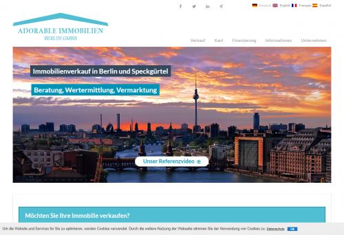 Firmenprofil von: Ermitteln Sie den Immobilienwert Ihres Hauses mit Adorable Immobilien Berlin GmbH
