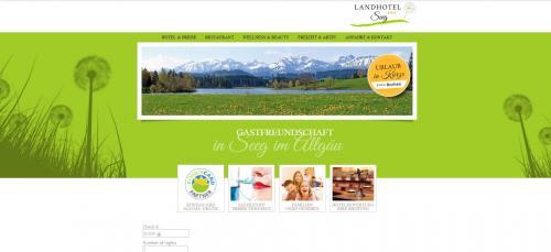 Firmenprofil von: Ihre Hotelbuchung im schönen Allgäu: Landhotel Seeg