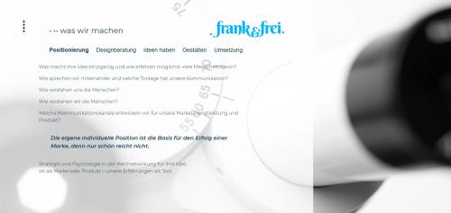 Firmenprofil von: Ihre Agentur für authentische Markenentwicklung: frank&frei