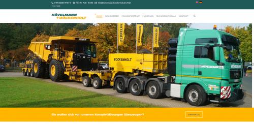 Firmenprofil von: Ihre Speditionen für Maschinentransporte: Hövelmann + Böckenholt