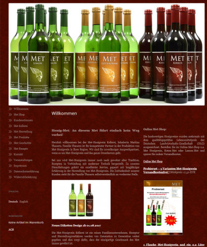 Firmenprofil von: Met-Honigwein online bestellen – Kellerei Thauern in Bielefeld