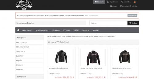 Firmenprofil von: Motorradbekleidung der Marke Bering im Ride-in Online-Shop