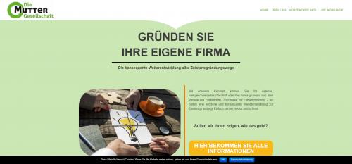 Firmenprofil von: Die Muttergesellschaft: Mit Existenzgründungsförderung in eine sichere Zukunft starten