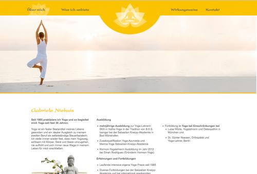 Firmenprofil von: Yoga Gabriele Niehuis in Oberhaching