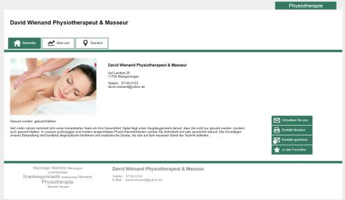 Firmenprofil von: Physiotherapie Markgröningen: Schmerzfreie Bewegung mit Physiotherapeut & Masseur David Wienand