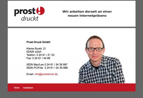 Firmenprofil von: Prost Druck GmbH - Druckerei in Jülich
