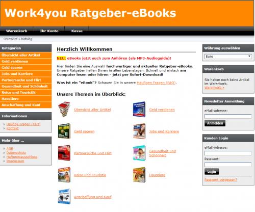 Firmenprofil von: Ratgeber zum Thema Auswanderung: Work4you eBooks