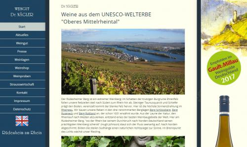 Firmenprofil von: Onlineshop des Weinguts Dr. Nägler – Rheingau Riesling aus Tradition