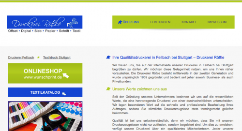 Firmenprofil von: Druckerei Rößle in Fellbach