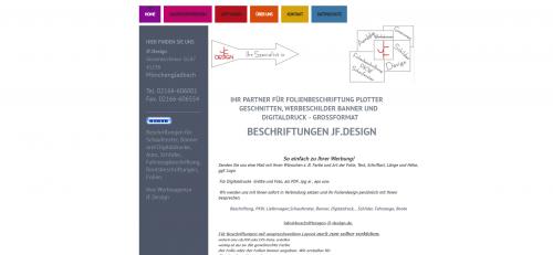 Firmenprofil von: Ihr Partner für Schaufensterbeschriftung in Mönchengladbach: JF.Design Fernschild