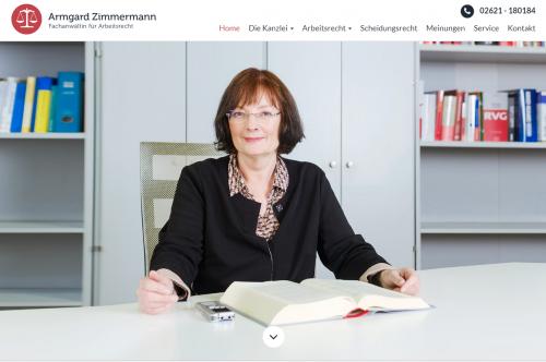 Firmenprofil von: Kompetente Beratung im Bereich Kündigungsrecht in der Region Koblenz:  Fachanwältin für Arbeitsrecht Armgard Zimmermann