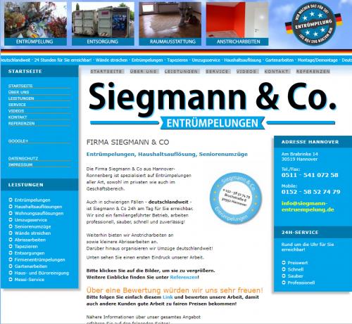 Firmenprofil von: Wohnungsauflösung Hannover: Siegmann & Co.