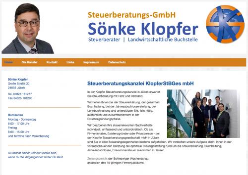 Firmenprofil von: Professionelle Steuerberatung: Klopfer Steuerberatungs-GmbH in Jübek
