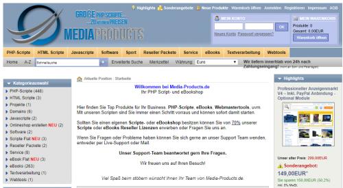 Firmenprofil von: Webkatalog php Script: Media-Products
