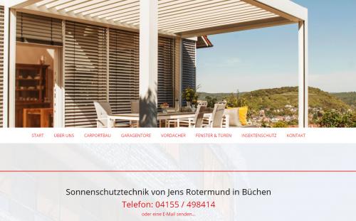 Firmenprofil von: Jens Rotermund Rollladen- und Sonnenschutztechnik in Büchen: Ihr Terrassendach mit Wohlfühlfaktor