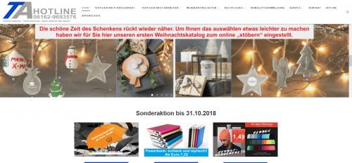 Firmenprofil von: Poloshirt online besticken: TA Textilausstatter.de UG