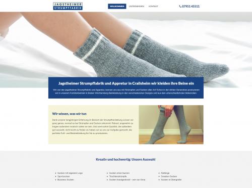 Firmenprofil von: Werbesocken der Jagstheimer Strumpffabrik in Crailsheim