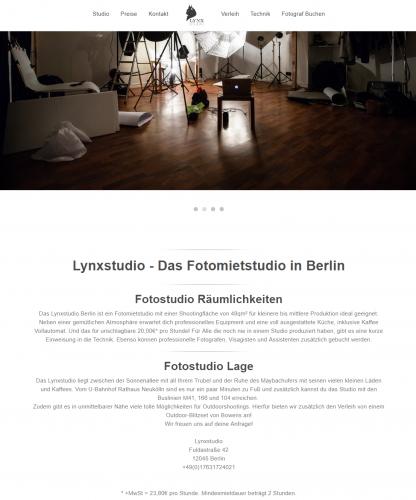 Firmenprofil von: Fotostudio in Berlin mieten – Lynx Studio