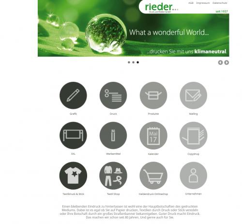 Firmenprofil von: Textilien verschönern mit Textildruck – rieder Druck und Medien GmbH in Kempten