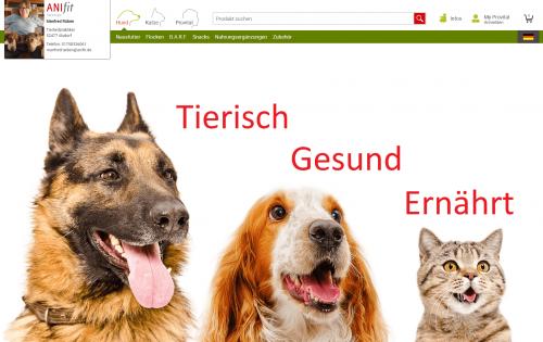 Firmenprofil von: Gesunde Hunde- und Katzennahrung – ANIFIT von Tierheilpraktiker Manfred Rüben