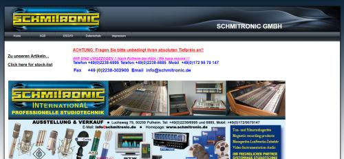 Firmenprofil von: Vintage-Studiotechnik von Schmitronic GmbH in Pulheim
