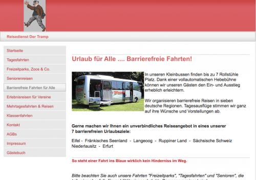 """Firmenprofil von: Reisedienst """"Der Tramp"""" in Soest"""