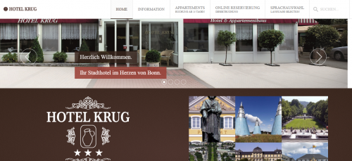 Firmenprofil von: Günstige Übernachtungen im Hotel Krug in Bonn