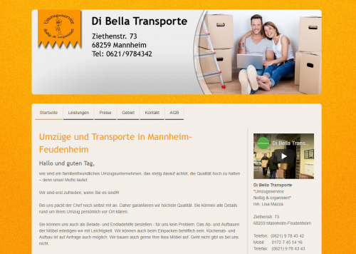 Firmenprofil von: Di Bella Umzüge und Transporte: Profis für Ihren Privatumzug in Mannheim