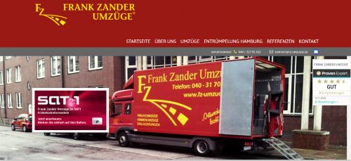 Firmenprofil von: Der zuverlässige Umzugsservice: Frank Zander Umzüge in Hamburg