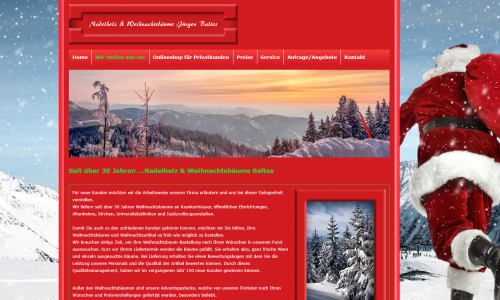 Firmenprofil von: Weihnachtsbäume für Wiederverkäufer: Nadelholz & Weihnachtsbäume Jürgen Baltes